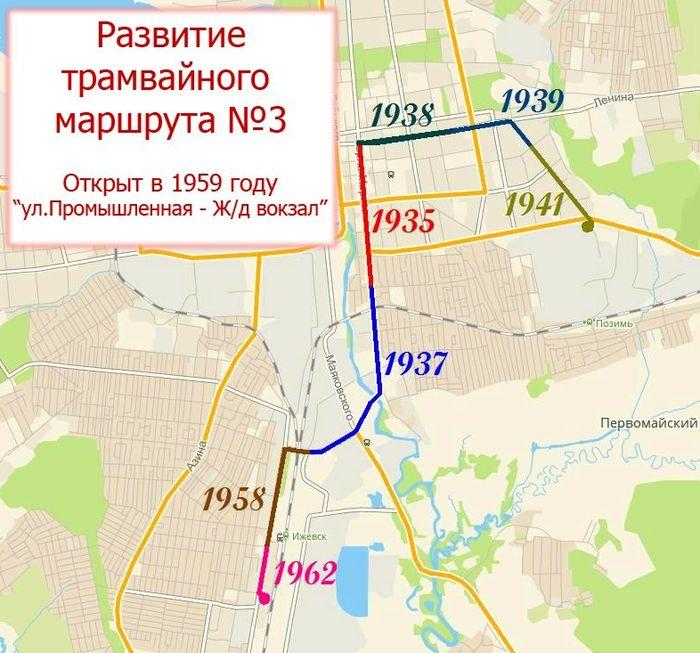 Развитие линий трамвайного маршрута №3. Ижевск.