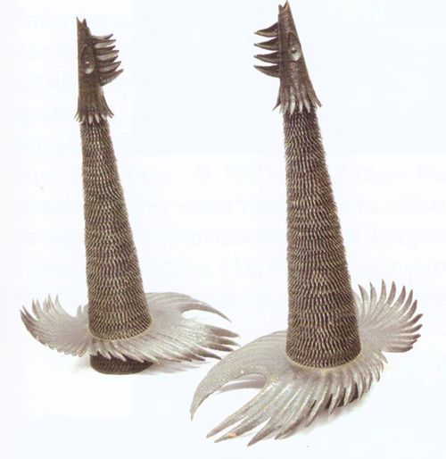 Глухари. Медь, металлопластика, ковка. 1989. Безносов Игорь Александрович