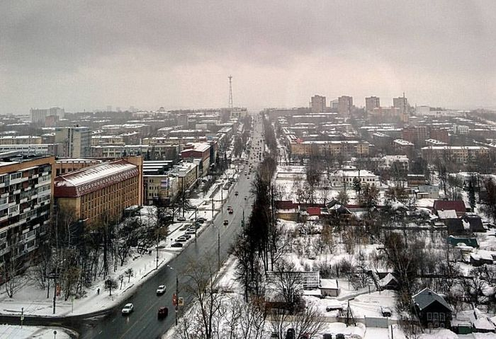 Улица Пушкинская в Ижевске. Фото Maksim. 26.03.17.