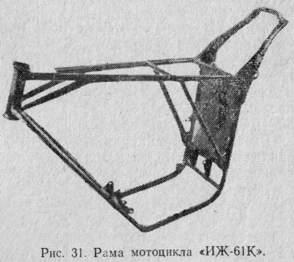 Рама мотоцикла ИЖ-61К