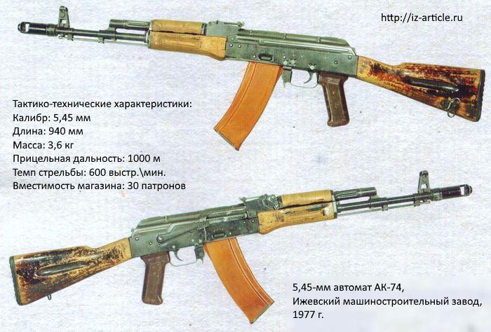 5,45-мм автомат АК-74, Ижевский машиностроительный завод, 1977 г.