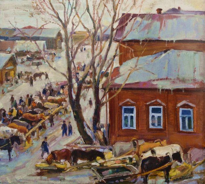 Н.А.Косолапова. Старый Ижевск. 1950.