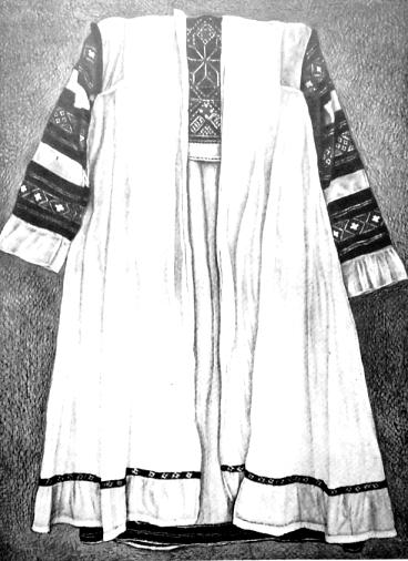 Женское платье. Ярский район. Северные удмурты.     Удмуртская народная одежда.