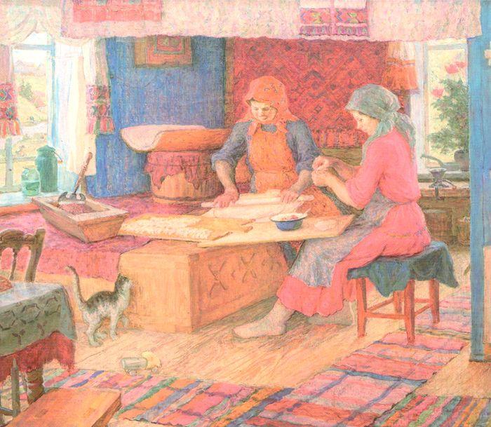Семен Виноградов художник. Пельмени. 1970.