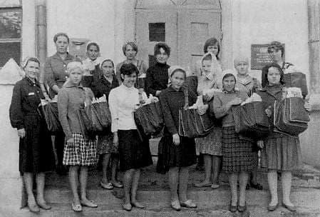 Бригада почтальонов. Ува. 1966 г. Удмуртия.
