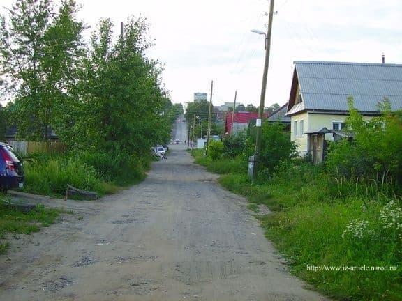 Улица Гусева. После перекрестка начинается пр. Володарского. 2011 год. ДВА.