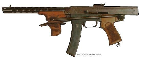 Опытный ручной пулемет Калашникова (РПК), калибр 7,62. Автоматика основана на принципе отдачи ствола. 1943г.