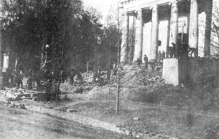 Разрушенный Александро-Невский собор. Ижевск. Лето 1934 г.