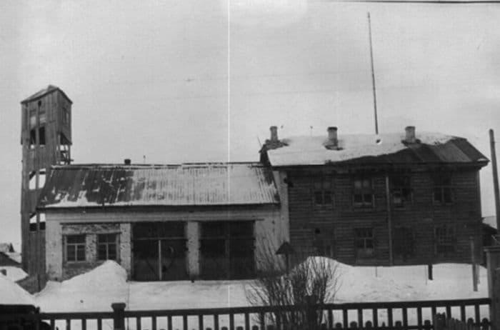 Городская пожарная команда № 5. Ул. Карла Либкнехта, 46 Ижевск. Снимок 1930-х годов.