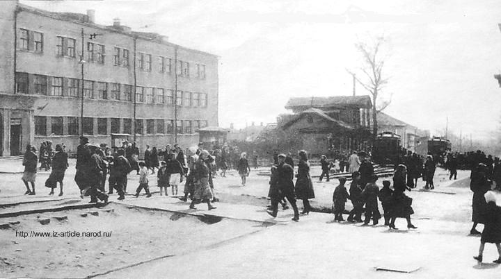 Перекресток К.Маркса и Советская. Здание Главпочтамта. Ижевск