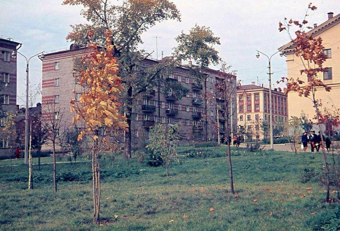 Сквер за кинотеатром Дружба. Фото 60-е годы. Ижевск.