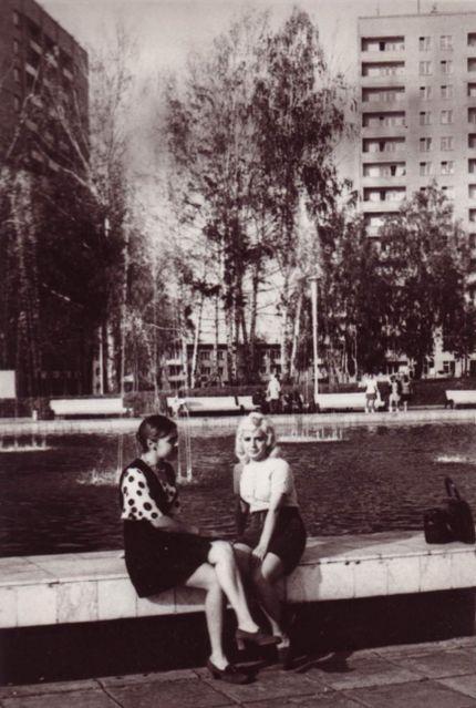 На Центральной площади, 1973 год. Ижевск.