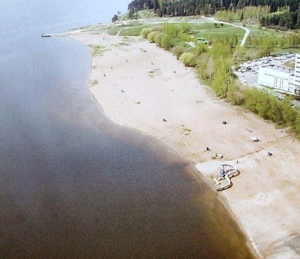 Пляж Ижевского пруда.
