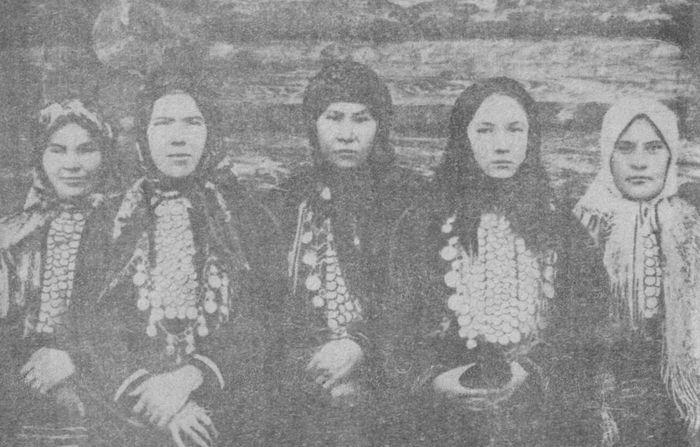 Нагрудные украшения женщин. Дер. Чумойтло, Можг. р-он, УАССР.
