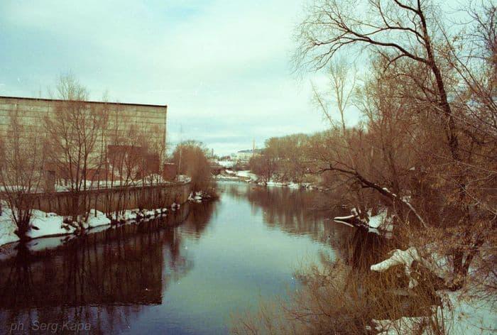 Река Иж в районе Долгий мост. Ижевск.