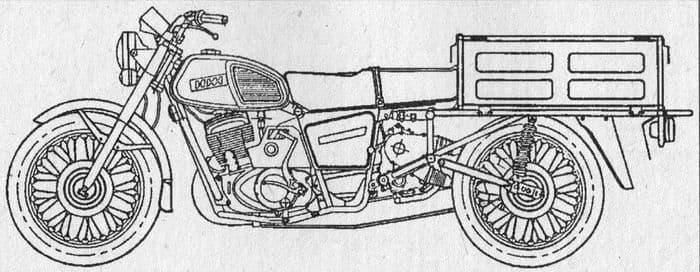 Мотоцикл грузовой с модулем ИЖ9.604
