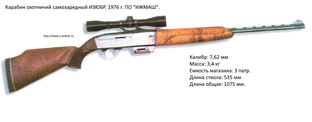 Карабин охотничий самозарядный ИЗЮБР. 1976 г. ПО ИЖМАШ.