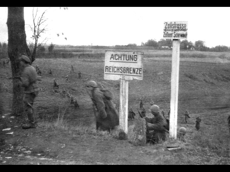 Немецкий город Ширвиндт октябрь 1944 г.