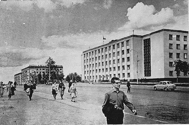 Дом Правительства, Ижевск. 1960-е годы. Пушкинская 214 Ижевск.