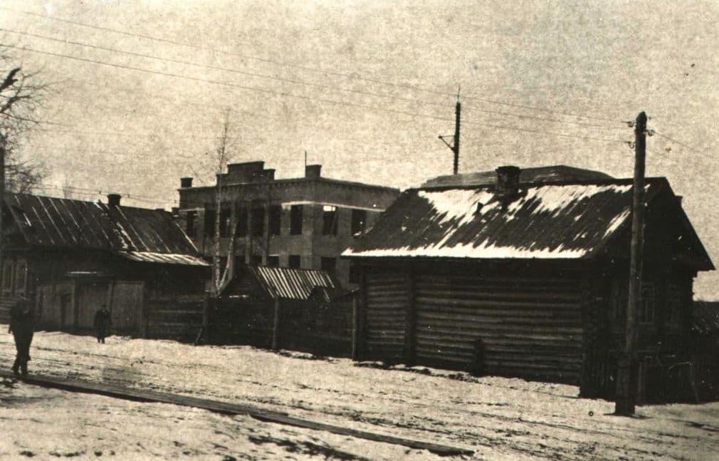 Красногеройский переулок. Ижевск. 1938 год. Фото С.Н.Кошурникова.