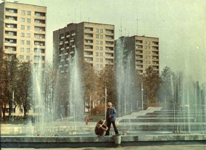 Центральная площадь Ижевска. Фото 1980-1981 г.