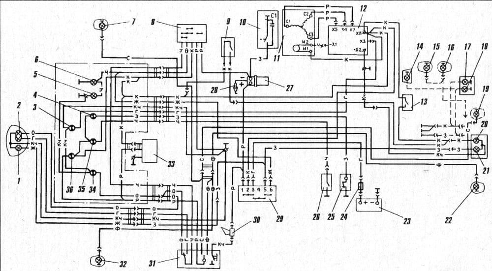 Схема электрическая мотоциклов Планета 5, Юпитер 5