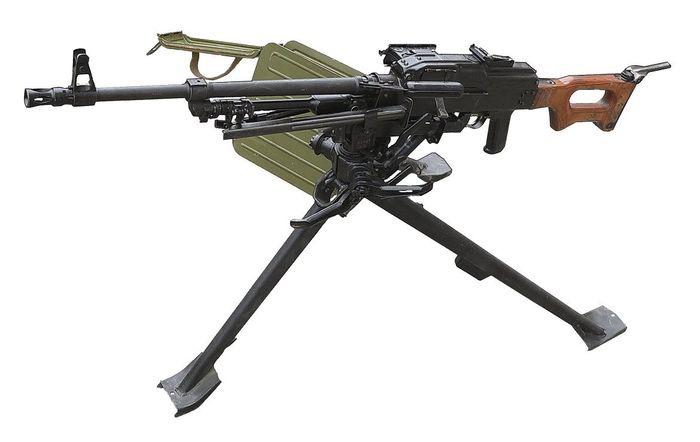 Пулемет ПКМС на станке Степанова.