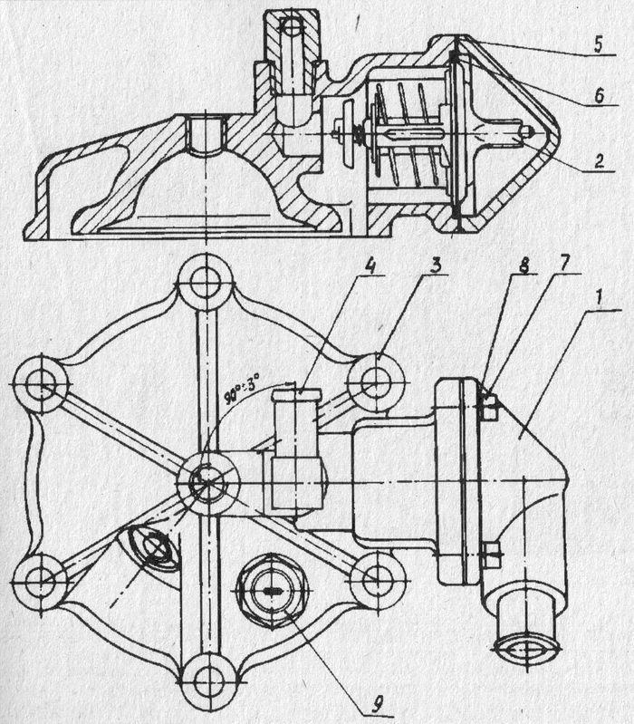 Головка цилиндра двигателя Планета 6