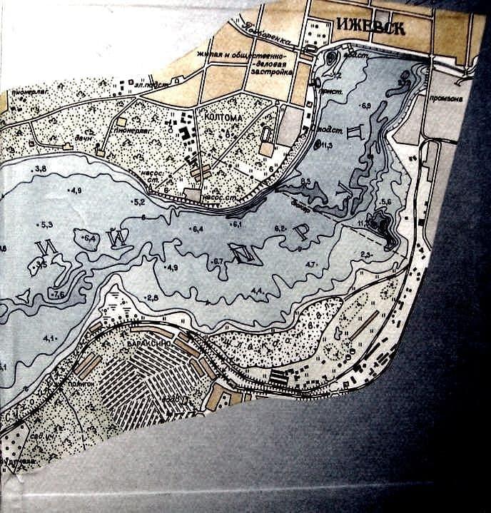 Карта Ижевского пруда 2