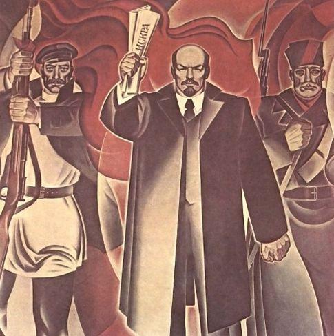 Темперная роспись И.Н.Нурмухаметов - Ленин с нами. Удмуртская филармония, Пушкинская улица, 245 Ижевск.