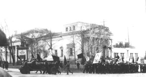 Фотография 1938 года. Александро-Невский собор без купола и колокольни.