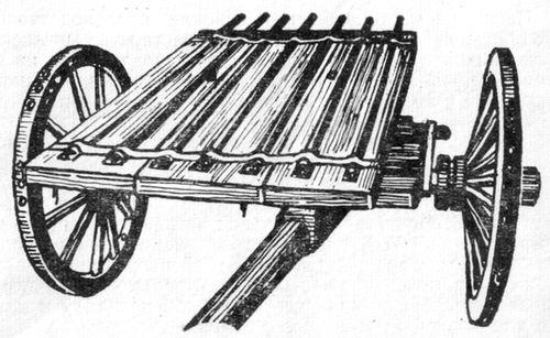 Семиствольная батарея - Сорока, калибра 18 мм. Изготовлена на Ижзаводе в XVIII веке, в 1839 году поступила в Петербургский музей из Московского арсенала.