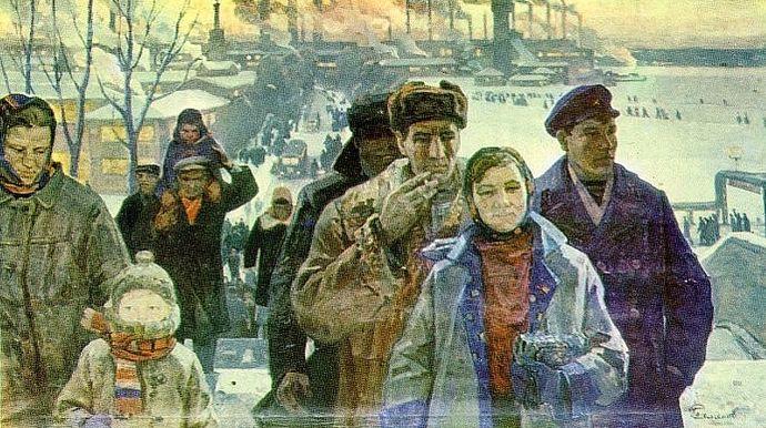 """""""Ижевские машиностроители"""", 1971 год Картина П.Семенова."""