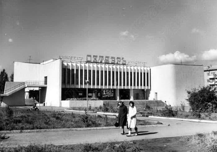 Кинотеатр Октябрь. 1984 - 1985 г.  Ижевск.