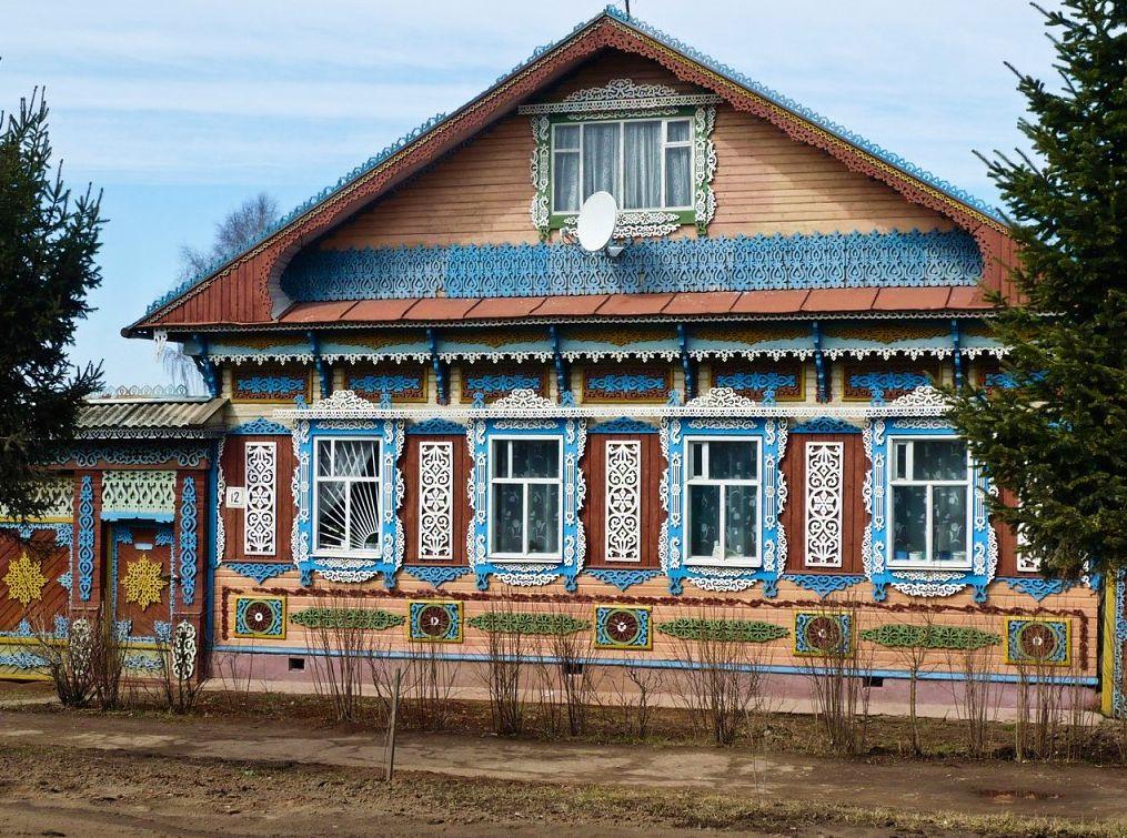 Наличники. Дом в Можге. Фото 2017 год.