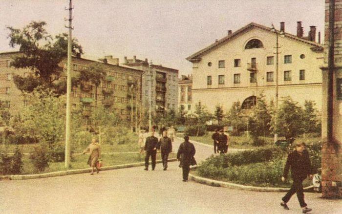 Сквер за Дружбой. Фото 60-х годов.