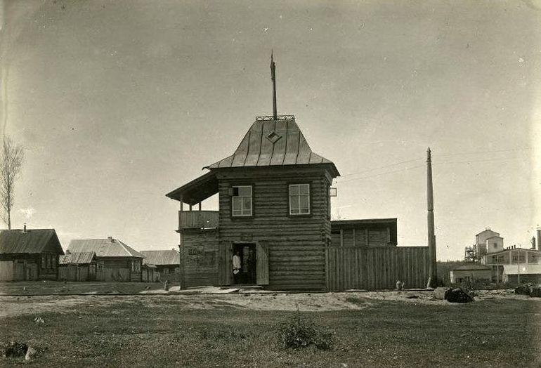 Подъездные железнодорожные пути к заводу «Удмурт», впоследствии завод «Дубитель». Можга. 1936 год.