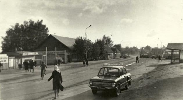 Можга. Центр города. 1960-е гг. Фото: Ахметова Р.
