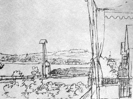 Воткинский завод. Рисунок Жуковского В.А., сделанный 22 мая 1837 г