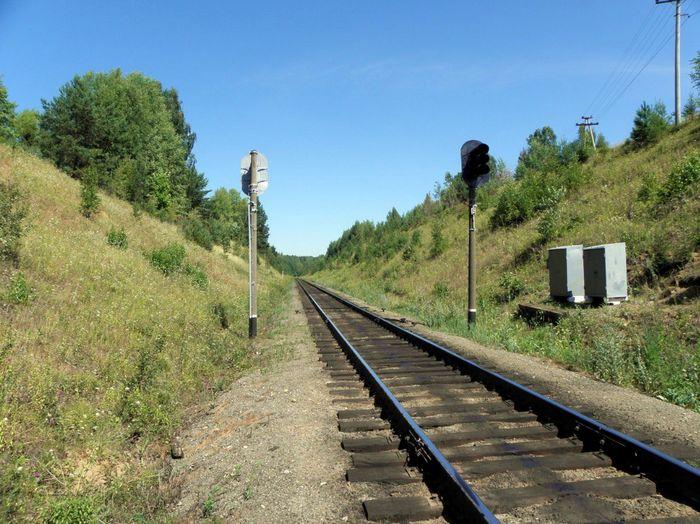 Кекоранский перевал железнодорожной линии Ижевск - Балезино, построенной в годы Великой Отечественной войны. Фото 2017 год.