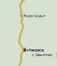 Якшур-Бодья. Карта.