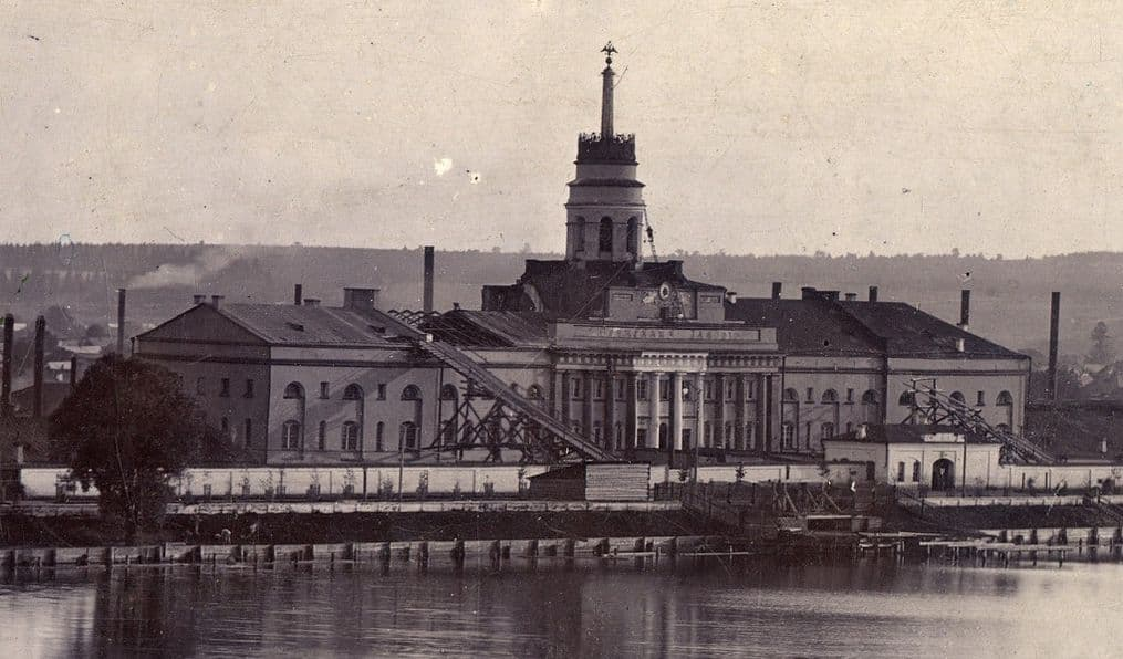 Главный корпус Ижевского завода, фото конца 19 века Музей Ижмаша. Ижевск.