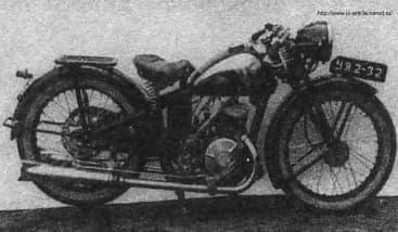 Мотоцикл иж-9. Фото 1941 года.