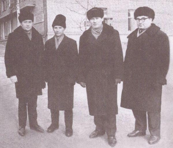 Геннадий Овчинников, Александр Вотяков, Семён Перевощиков, Николай Ваильев. 1960-е годы.