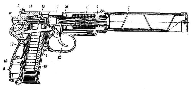 Пистолет бесшумный (ПБ), 6П9
