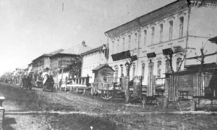 Улица Базарная, начало XX века. Ижевск.