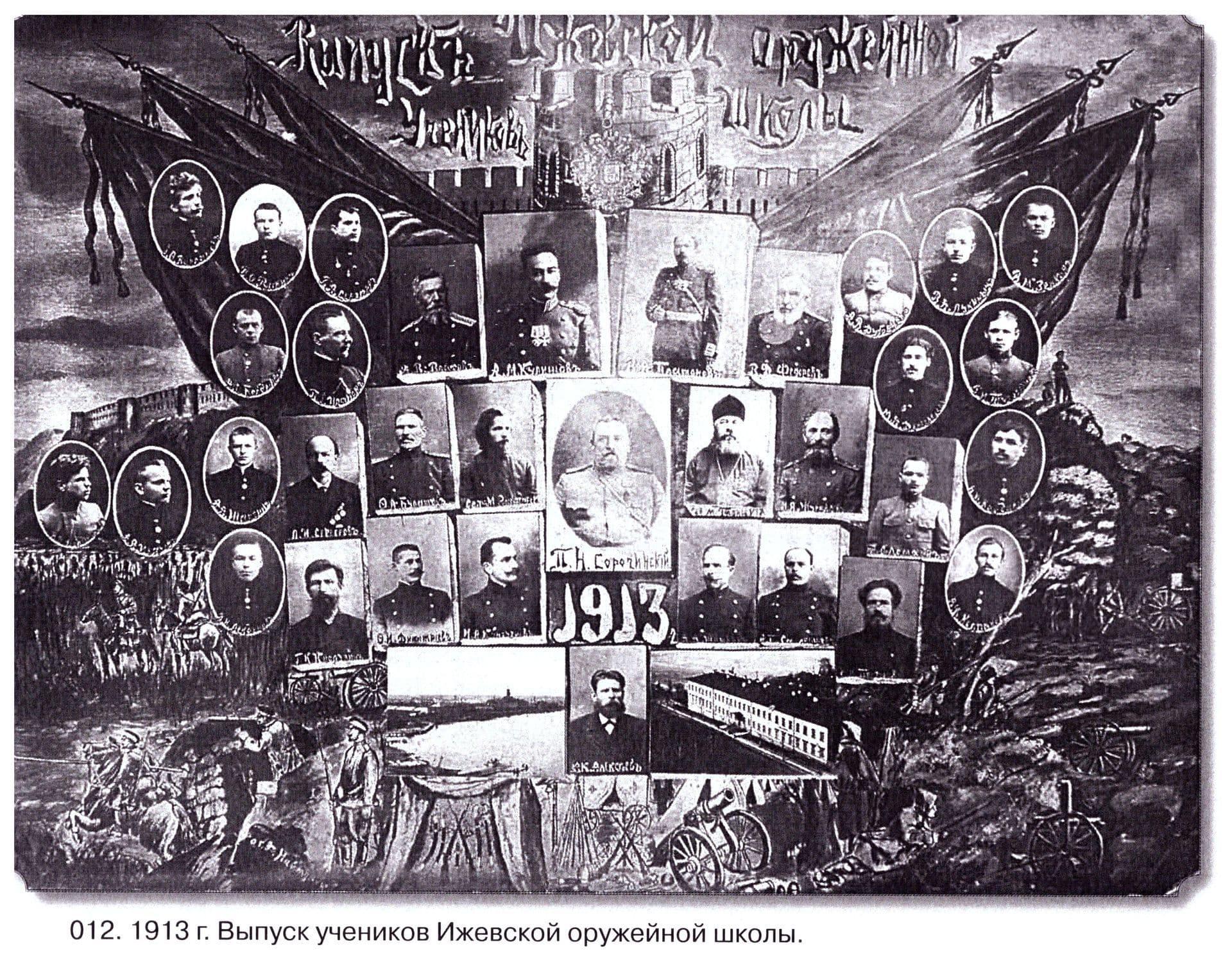 Выпуск учеников ижевской оружейной школы. 1913 г.