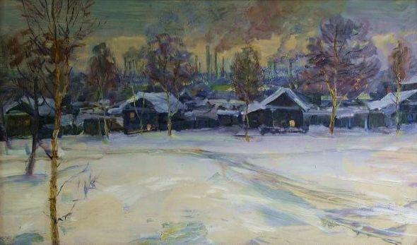 """Сенилов А. М. """"Окраина рабочего Ижевска"""", 1976 год."""