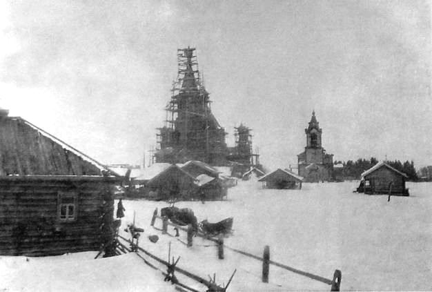 Строительство церкви в с.Пышкет Глазовского уезда. 1870 г.