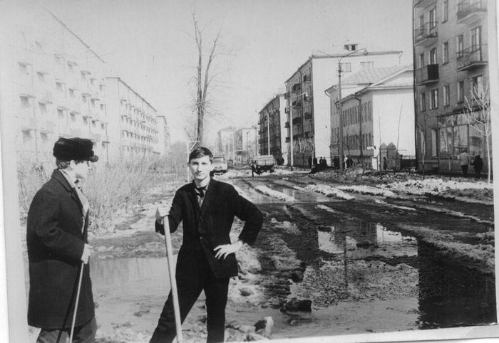 Улица Красногеройская, 1969 год. Архив школы №30. Ижевск.